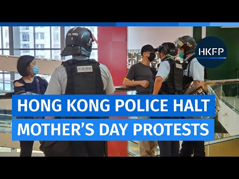 Hong Kong police halt Mother's Day shopping mall protests