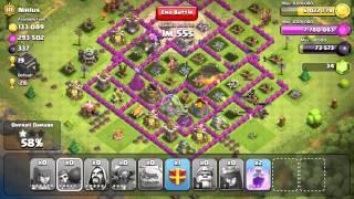 Clash of Clans - Over 1 Million Raid With 1,533 Dark Elixir!! Sick 'GoWipe' 3 Star (One Raid)