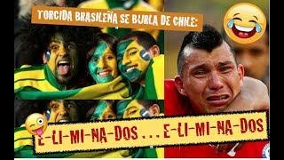 Todo el estadio se burla de Chile: ELIMINADO!! - Brasil 3-Chile 0 -  Eliminatorias Rusia 2018