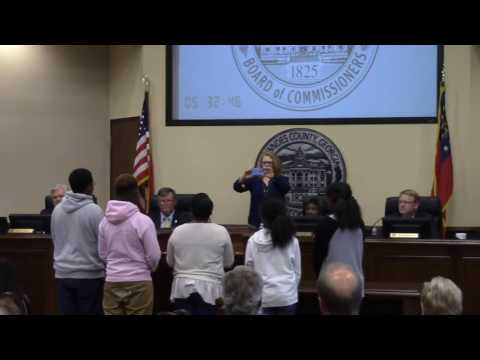 Chairman's Recognition - Student Group seeking proclamation
