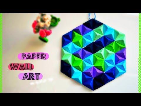Super Easy DIY Paper Wall Art| Wall Décor - YouTube