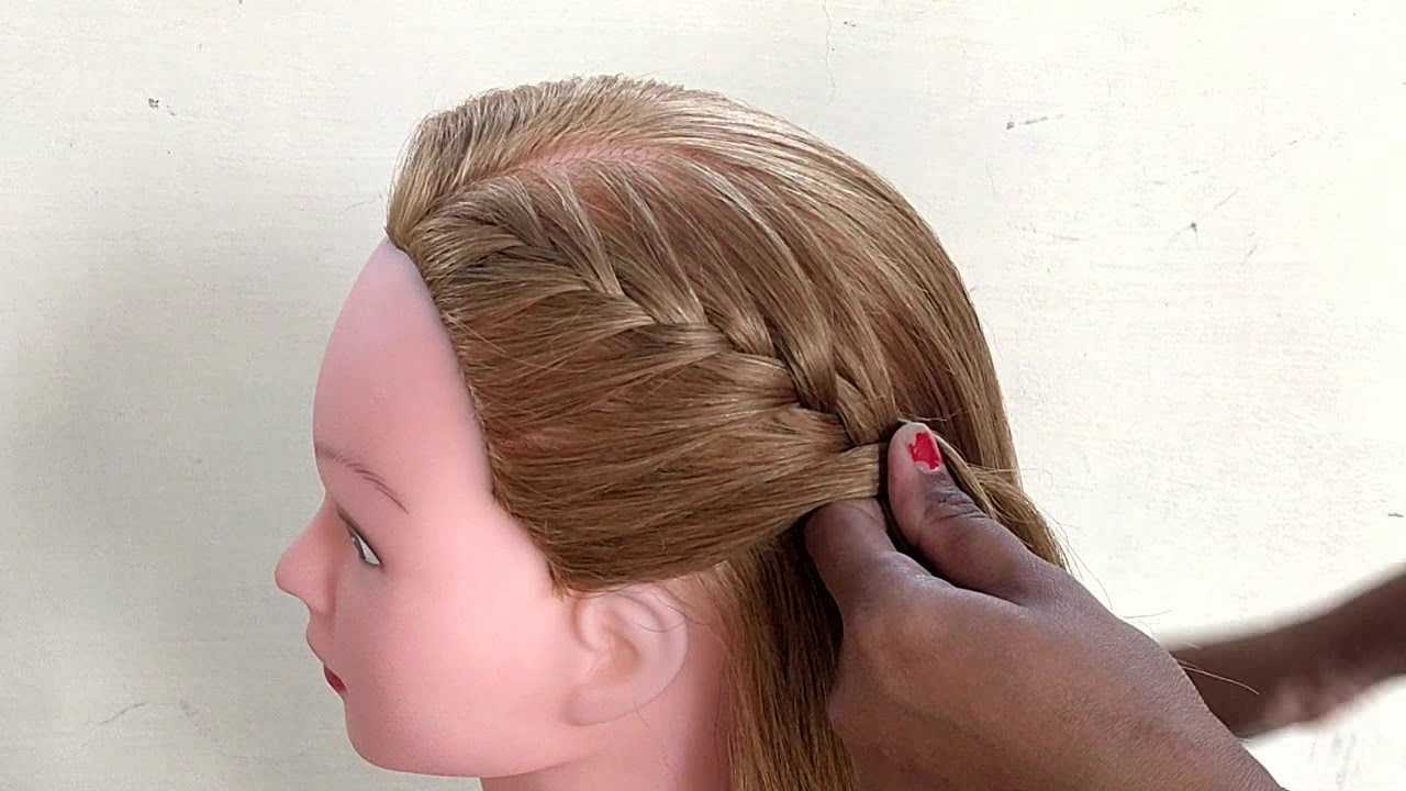 Awesome Open Hair hairstyle || One Side Braided Hairstyle || Easy Simple Hairstyle For Girls ...