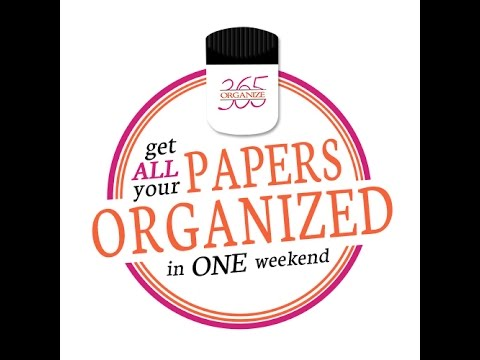 Get ALL Your Papers Organized in ONE Weekend with this KIT
