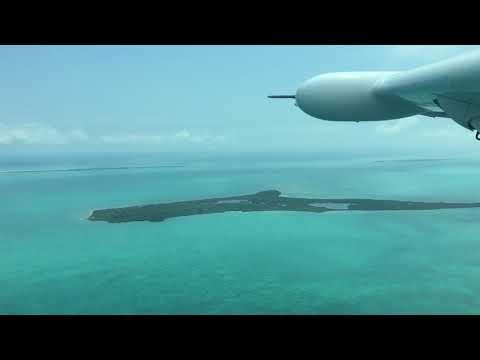 Maya Air flight Belize City to San Pedro; Ambergris Caye, Belize