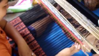 Songket  Backstrap  Weaving  in  Muncan  Bali  INDONESIA  by  Ni  Kadek  Apriani