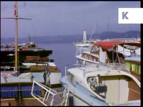 Early 1960s St Tropez French Riviera, Shops, Restaurants, Boats - Rare Colour 16mm Home Movies