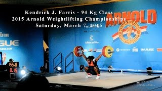 Kendrick J. Farris Lifting at the 2015 Arnold Weightlifting Championships
