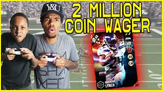 CRAZY 2 MILLION COIN WAGER NAIL BITER! - MUT Wars Ep.52 | Madden 17 Ultimate Team