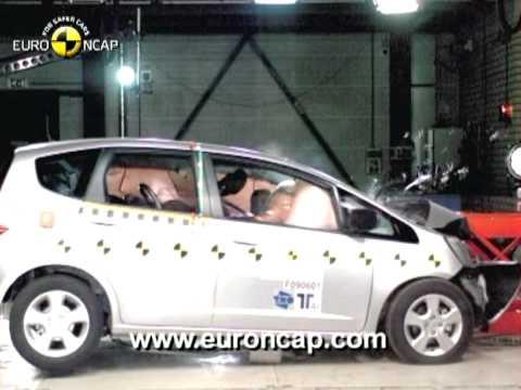 Euro Ncap Honda Jazz 2009 Crash Test Youtube