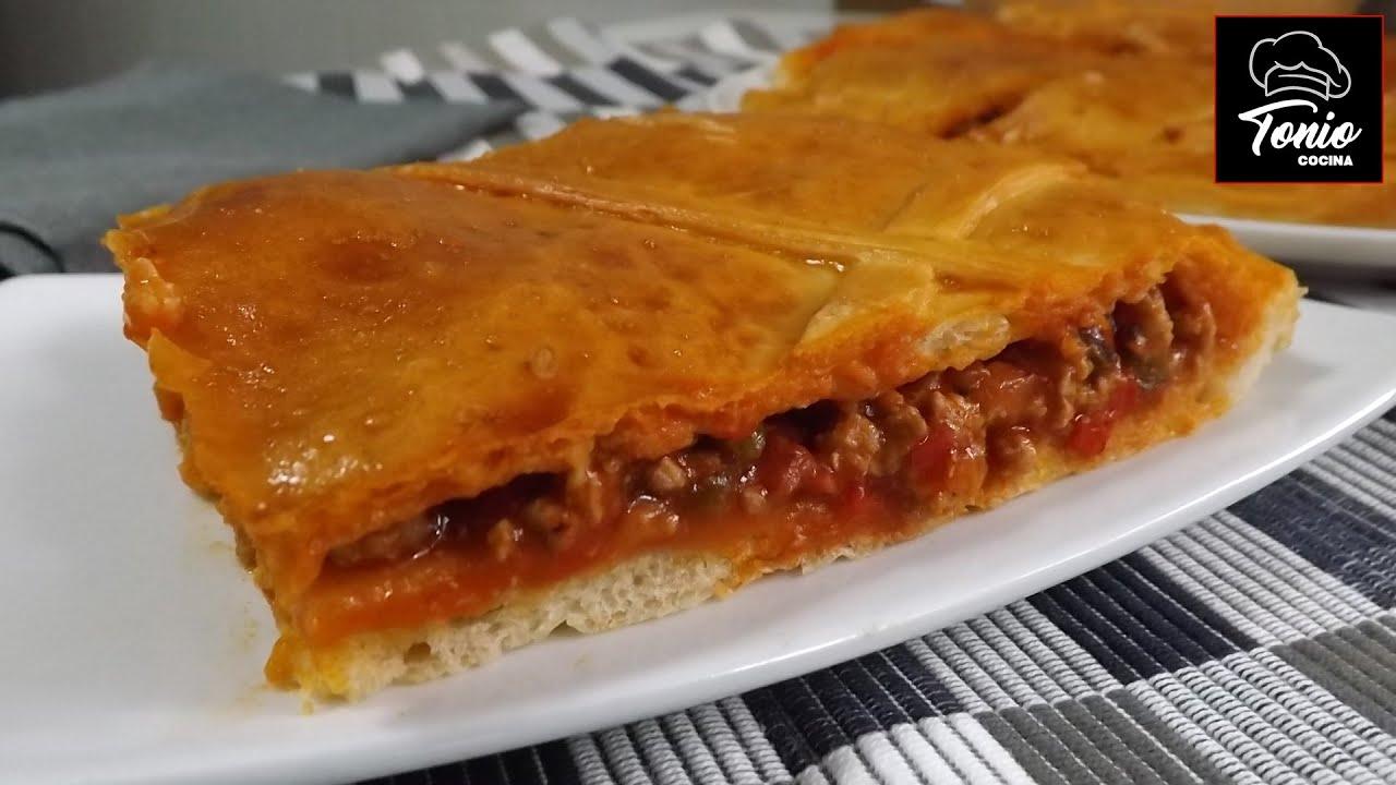 Empanada casera rellena de carne masa casera receta f cil - Cocina casera facil y rapida ...