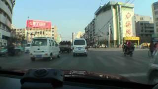 【車載動画】 中国・江苏省徐州市 云龙湖 -- 徐州火车站 (31-Dec-2008)
