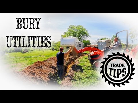 How to Bury Utility Lines, Water Lines, and Power Lines - Trade Tips