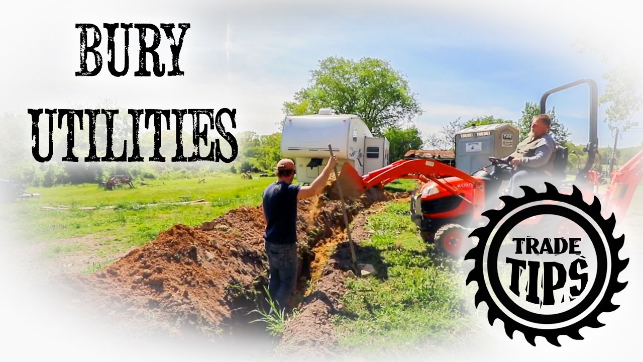 How To Bury Utility Lines Water And Trade Tips