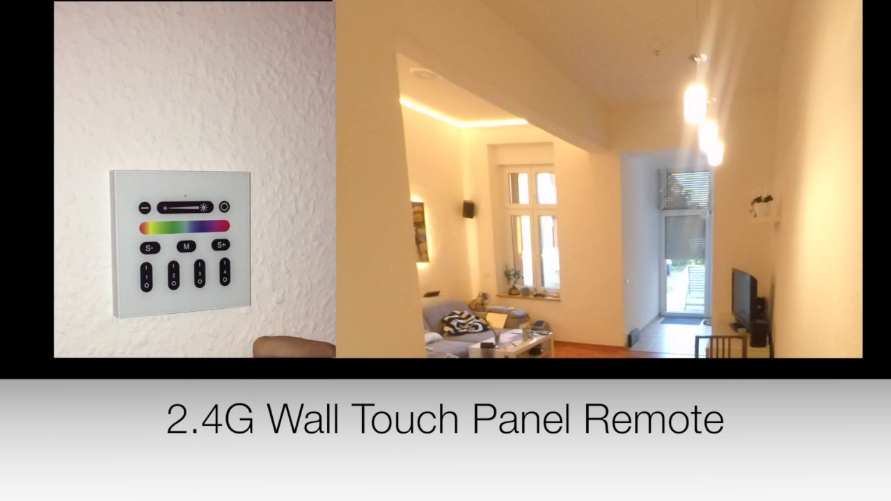 Gledopto 2 4G RF Reomote Control Wall Touch Panel Remote Panel control 2 4G  Wireless RF Led Light