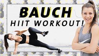 Bauch HIIT Workout für Zuhause | Fett verbrennen & Core stärken in 15 Minuten