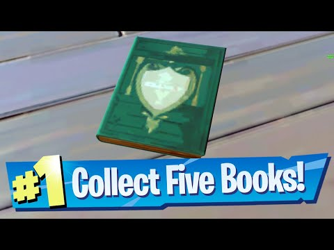 Collect Books from Holly Hedges and Sweaty Sands Location - Fortnite