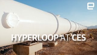 Hyperloop - Hyperloop test track tour at CES 2018