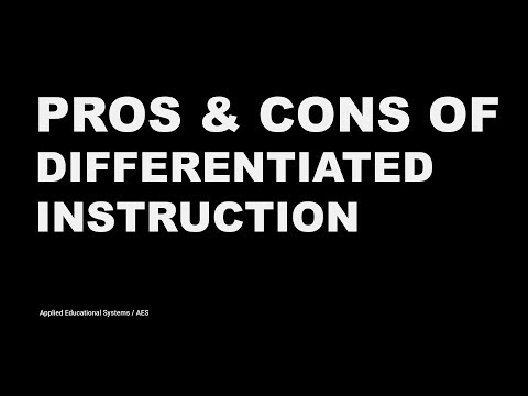 Pros and Cons of Differentiated Instruction