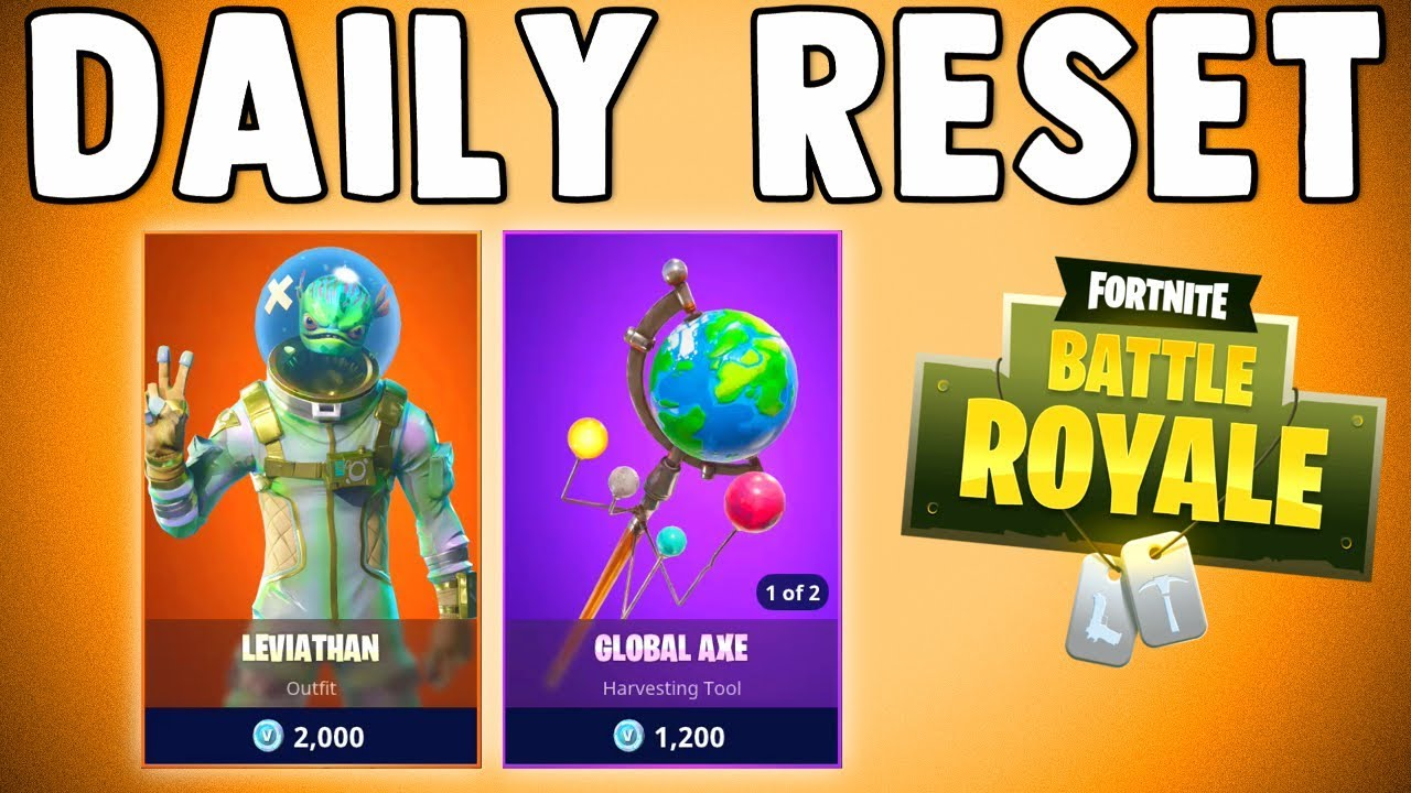 Leviathan Skin Global Axe Are Back Fortnite Daily Reset New