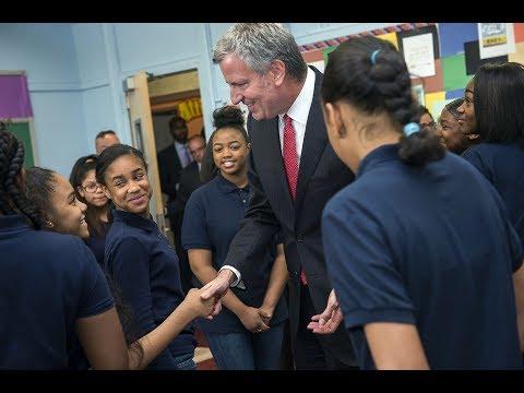 Mayor de Blasio Announces 69 New Community Schools