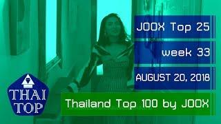 JOOX THAI TOP 25 (สัปดาห์/week 33) (20 สิงหาคม 2561) (August 20, 2018)