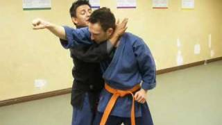 Here is a variation on the head and arm choke, known in Kenpo as Sl...