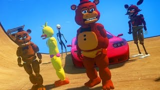 animatronics stunt on world s biggest ramp ever gta fnaf mods funny moments