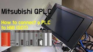 How to connect a Mitsubishi PLC (QJ71E71-100) to HMI (GOT2000)