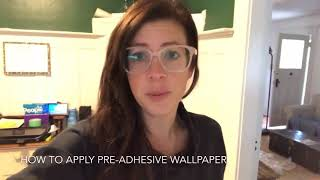 How to apply pre-pasted wallpaper