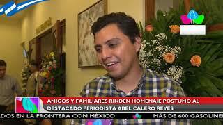 Amigos y familiares rinden homenaje póstumo al destacado periodista Abel Calero Reyes