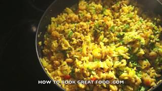 Easy Indian Shrimp Fried Rice Recipe - Prawn Massala