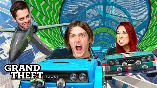 INSANE GTA 5 STUNT RACES! (Grand Theft Smosh)