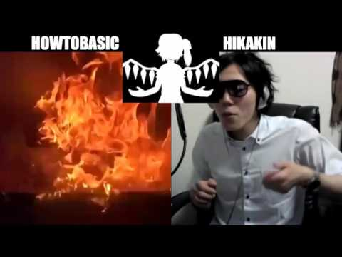 HowToBasic VS ヒカキン ボイパ対決 Bad Apple!! - YouTube