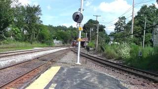 guilford rail sd40 switching tracks at ayer and mbta