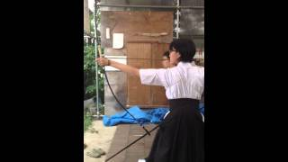 Japanese High School Kyudo archery