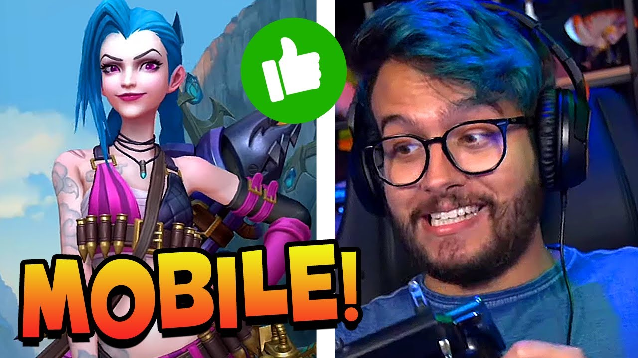 LEAGUE OF LEGENDS MOBILE é melhor que no PC?