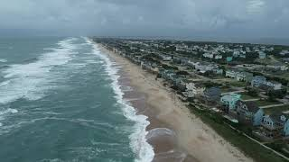 Aerial footage shows Outer Banks relatively OK
