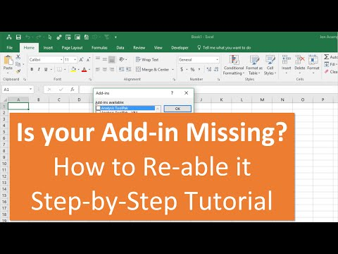 How to Re-enable an Add-in that is Disabled or Missing