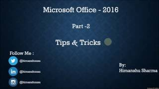 MS Word Tips & Tricks Part-2