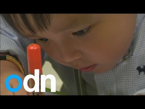 Toddlers in Hong Kong train for interviews to get into kindergarten