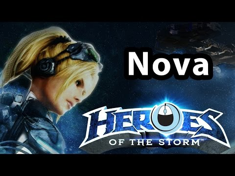 Heroes of the Storm Nova SEXY GIRL FIRST TRY