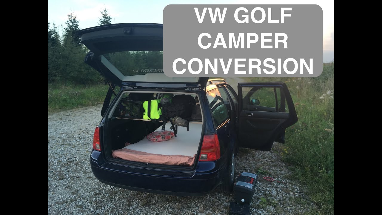 vw golf camper conversion youtube