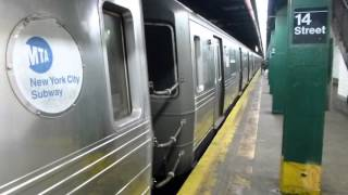 IND 6th Ave Line: R68 D Train at 14th St-6th Ave (Local-Weekend)