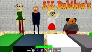 ALL Baldina's CHARACTERS in ROBLOX (Baldi's Basics)