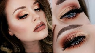 ColourPop Double Entendre Eyeshadow Palette Tutorial | Warm Half Cut Crease