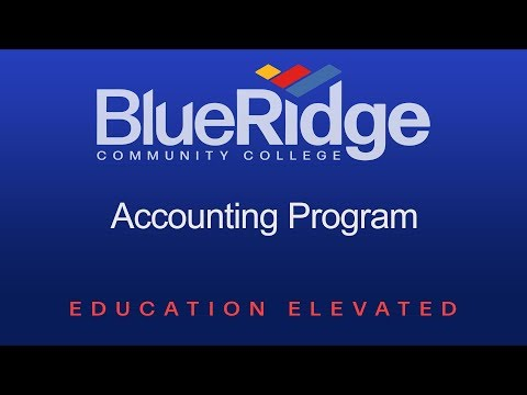 The Accounting Program at Blue Ridge Community College
