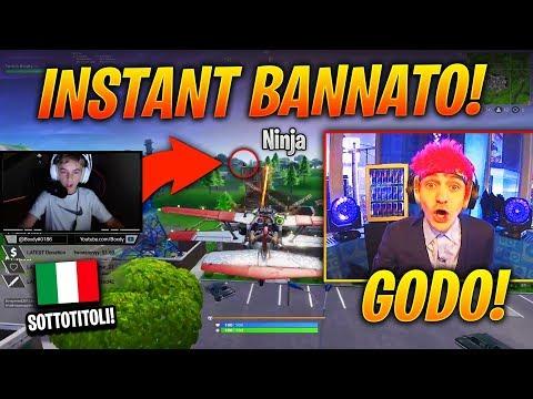 BAMBINO STREAM SNIPERA Ninja DURANTE il suo EVENTO! BANNATO Istantaneamente! 😲