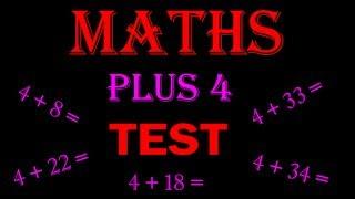 maths online - math for kids Plus 4 TEST