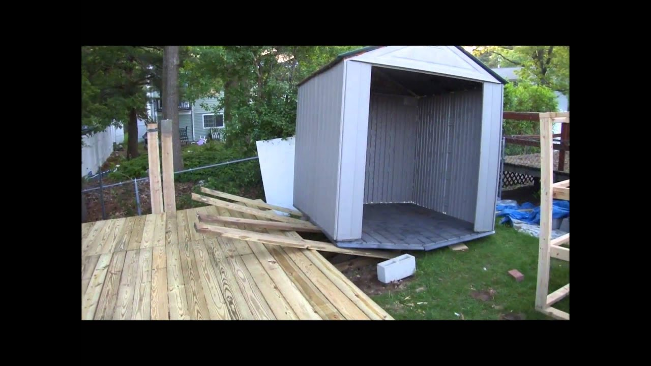 Moving 2 Old Sheds Onto A Newly Built Floating Deck May
