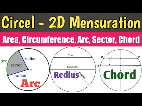 Circle - Area, Circumference, Arc, Sector, Chords, Diameter || Part 1 || 2D Mensuration.